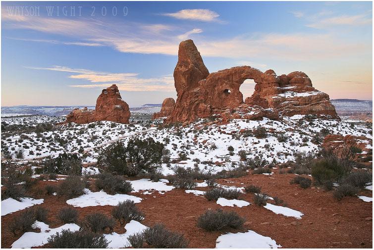 Turret Arch Sunrise by tourofnature