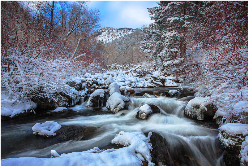 Big Cottonwood Canyon- Winter by tourofnature