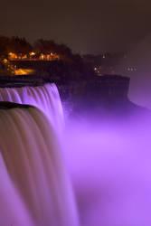 Purple Lights at Niagara Falls by conbot