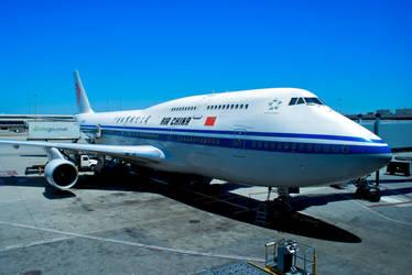 Air China 747-400 at SFO by conbot