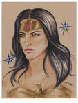 Wonder Woman Portrait by emilyvonzombie
