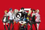 Persona 5 Wallpaper (Main Characters so far)