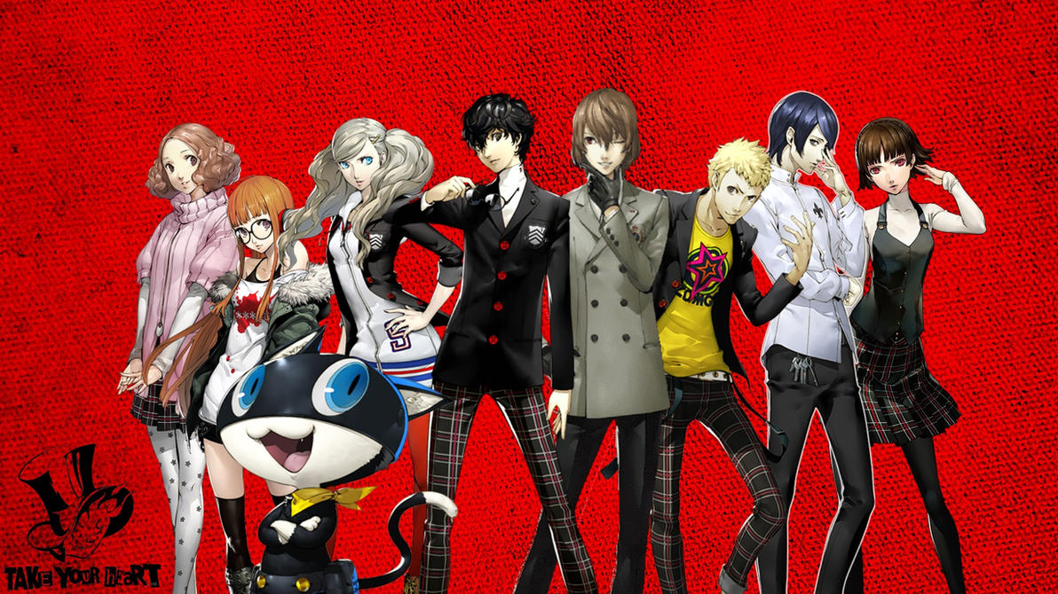 Persona 5 Wallpaper Updated With Color By Jaekob13