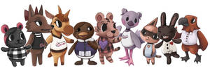 Twice as Animal Crossing Villagers
