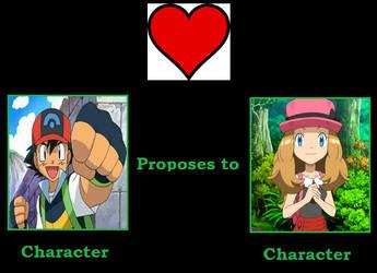 Ash proposes to Serena by HeroicMischiefMaker