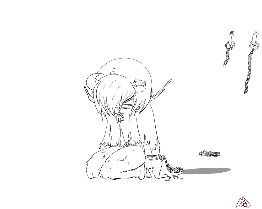 Defeated **GFB Lineart** by Maniamama