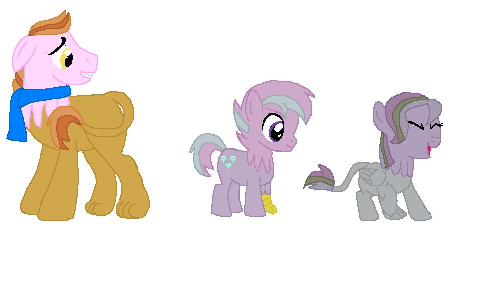 Hypological Gilda x Pinkie Pie Children by BokkaTHfoxrabbit