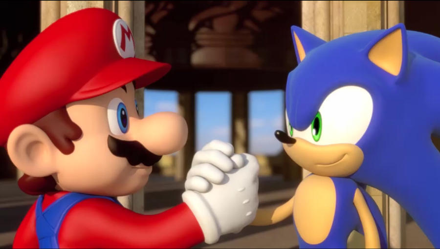 Mario and Sonic in London by FJOJR