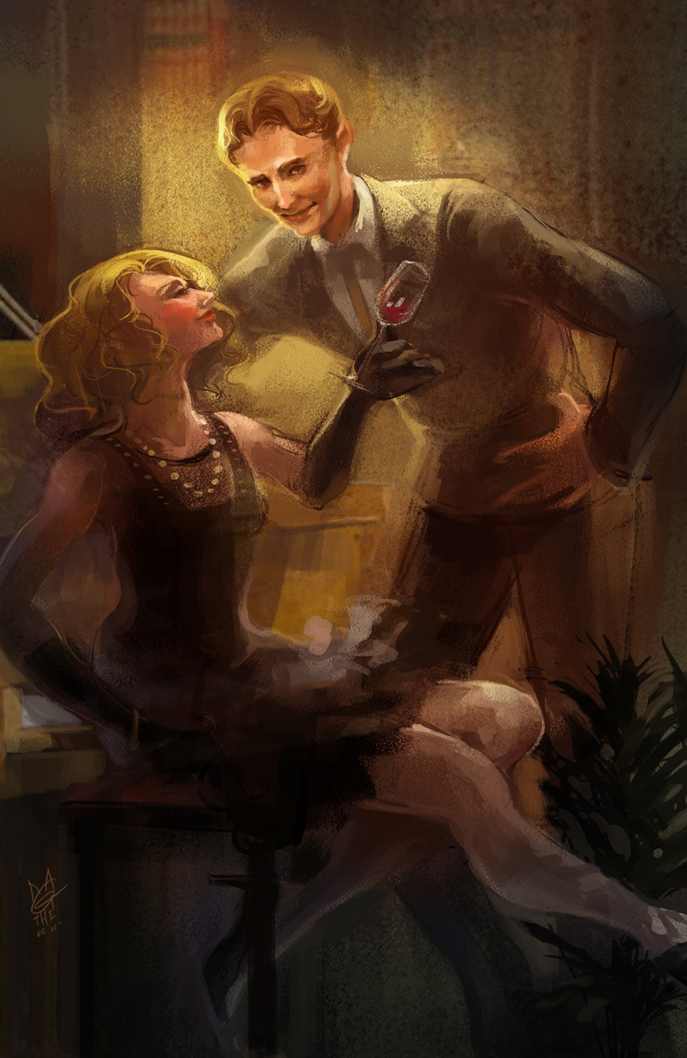 Midnight in Paris Mr and Mrs F by agathexu