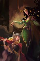 Odinson sisters by agathexu