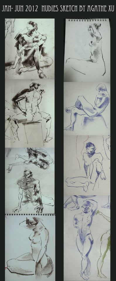JAN- JUN 2012 NUDES SKETCH -06 by agathexu