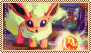 .::PKMN|Undaunted Flareon::. by Jiji-stamps-n-stuff