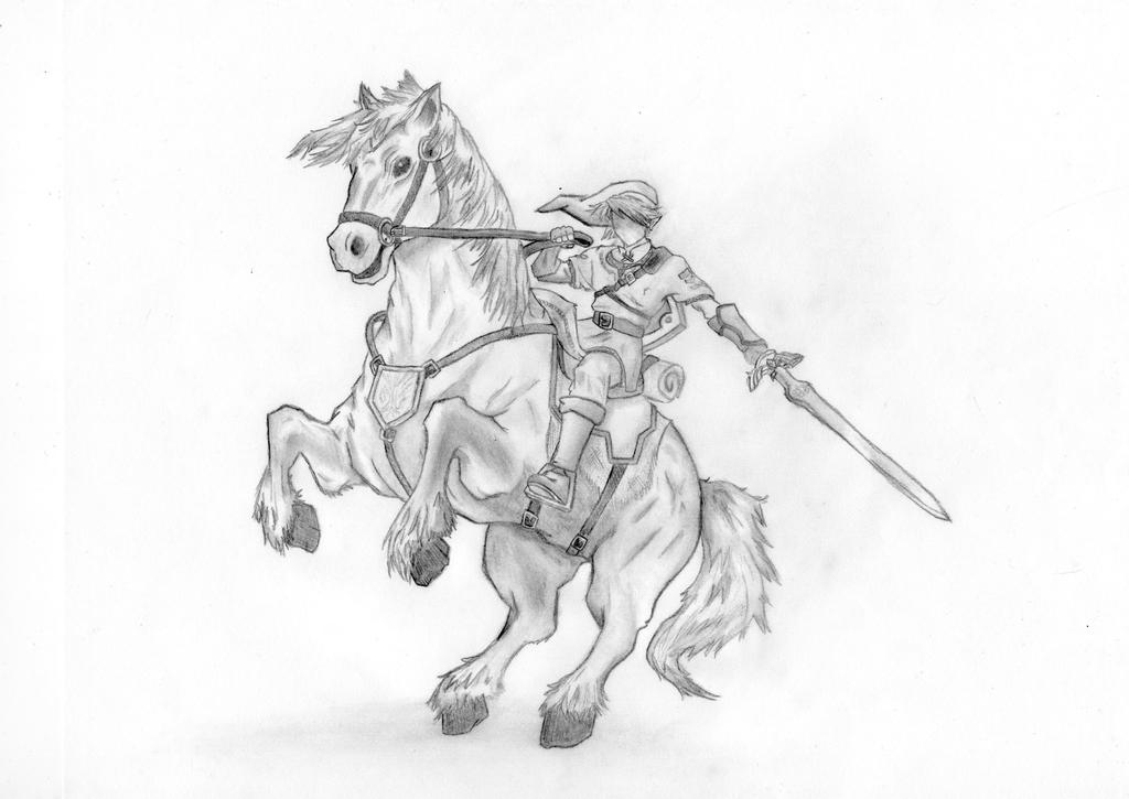 legend of link and epona by xbunnybunz on deviantart