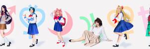 Sailor gang by Usagitxo