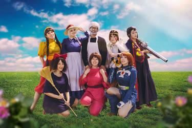 Miyazaki's Big Family by Usagitxo