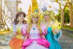 Nintendo princesses by Usagitxo