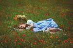 Dorothy in the poppy field by Usagitxo