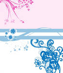 Pink and blue flowery things