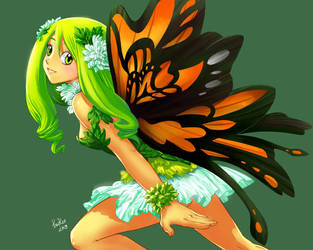 Commission:Fairy by froggiechan