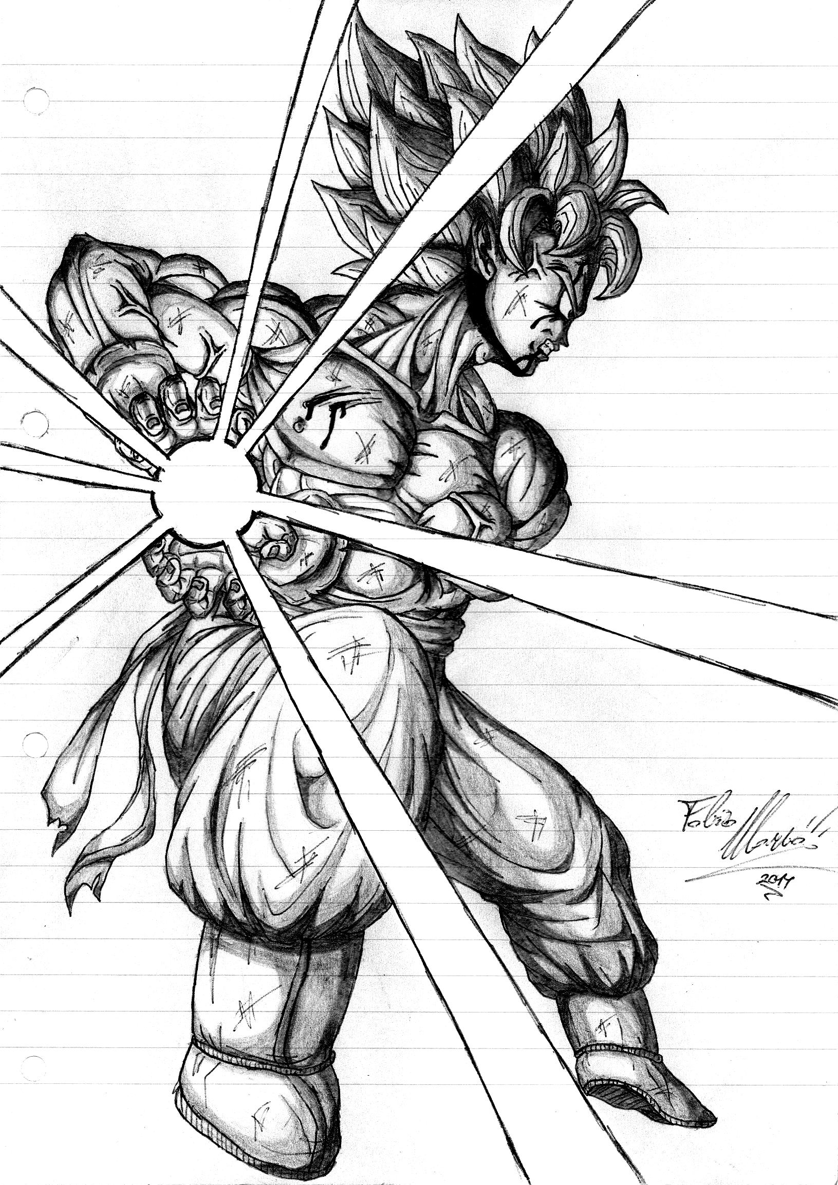 Goku SSJ Kamehameha Black Biro by SigmaGFX on DeviantArt