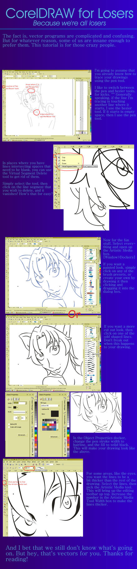 Line Art Corel : Coreldraw lineart tutorial by caroldreamer on deviantart