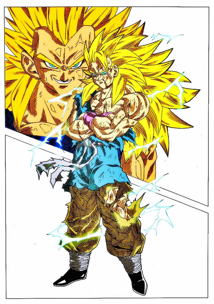 Goku Vs Vegeta Ssj3 Full Power Colored by Gizmo199002 on ...