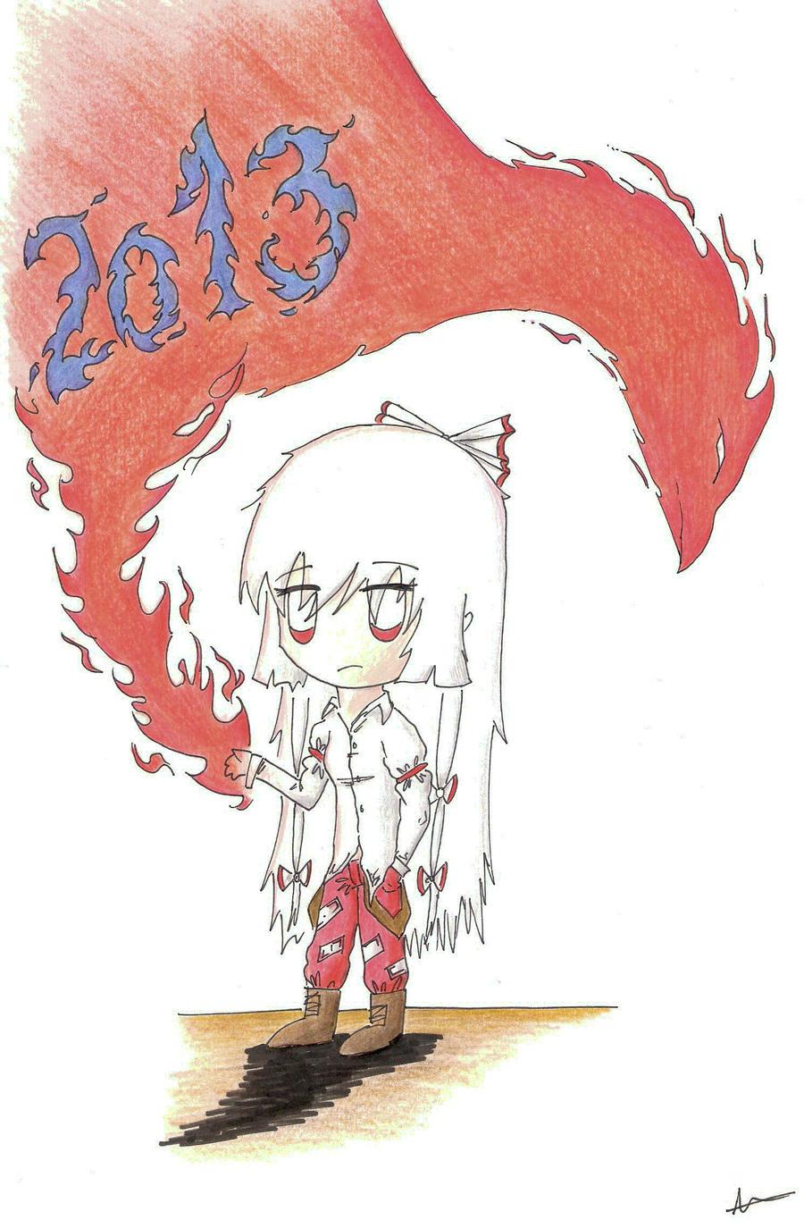 2013 Fujiwara No Mokou by DesperateArt