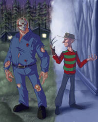 Jason VS Freddy by Darthpepo1