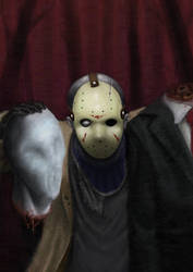 Jason Vs Slenderman redraw by Darthpepo1