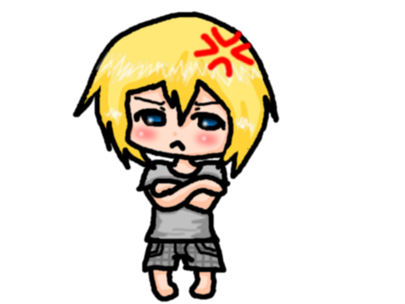 Angry chibi by xTheLoserx on deviantART