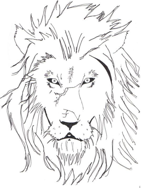 Line Drawing Lion : Lion line art by speakredtext on deviantart