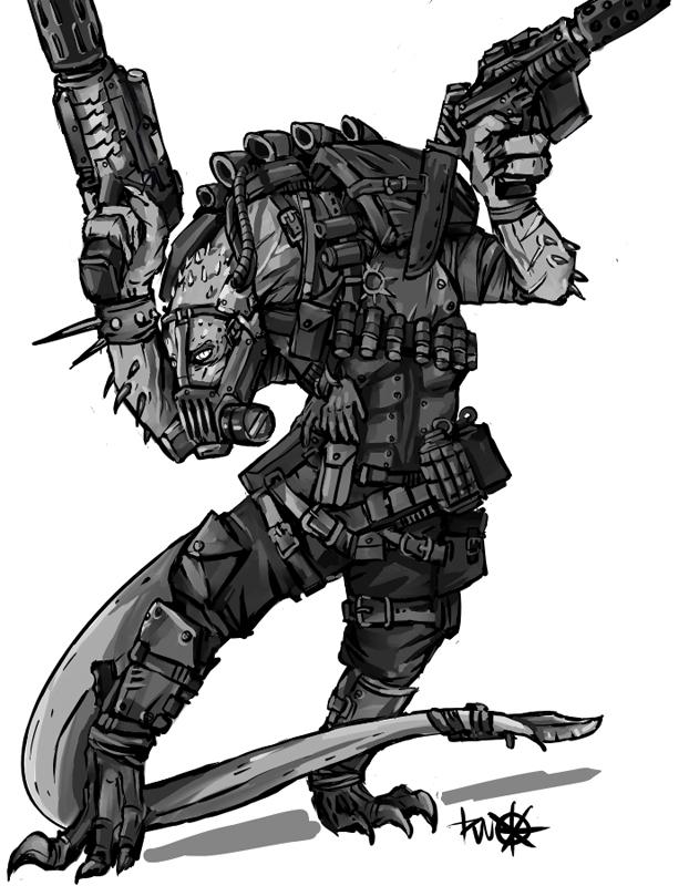 Loxatli Blood Pact mercenary by kriegsmachine14
