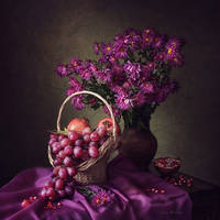 Still life in purple colors