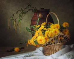 With dandelions by Daykiney