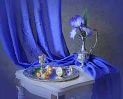 Solo blue iris by Daykiney