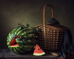 Still life with watermelon by Daykiney