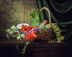 Still life with gladioluses by Daykiney