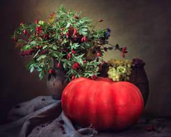 Still life with pumpkin by Daykiney