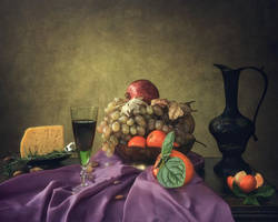 Still life with young wine by Daykiney