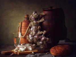 Still life with garlic by Daykiney