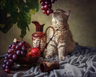 Masyanya and grape by Daykiney