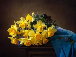 Yellow daffodils by Daykiney
