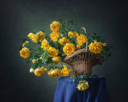 The basket with yellow roses by Daykiney