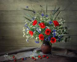 Whith  wild flowers by Daykiney