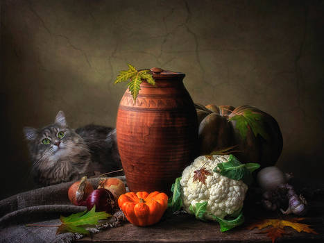 Masyanya and vegetables still life