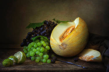 Still life with melon by Daykiney
