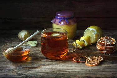 Hot healthy tea by Daykiney