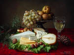 Christmas cheese plate