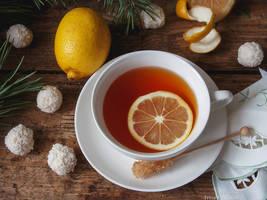 Tea with lemon by Daykiney