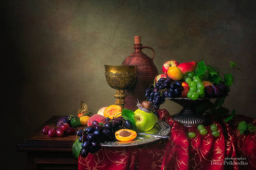 Still life in Baroque style